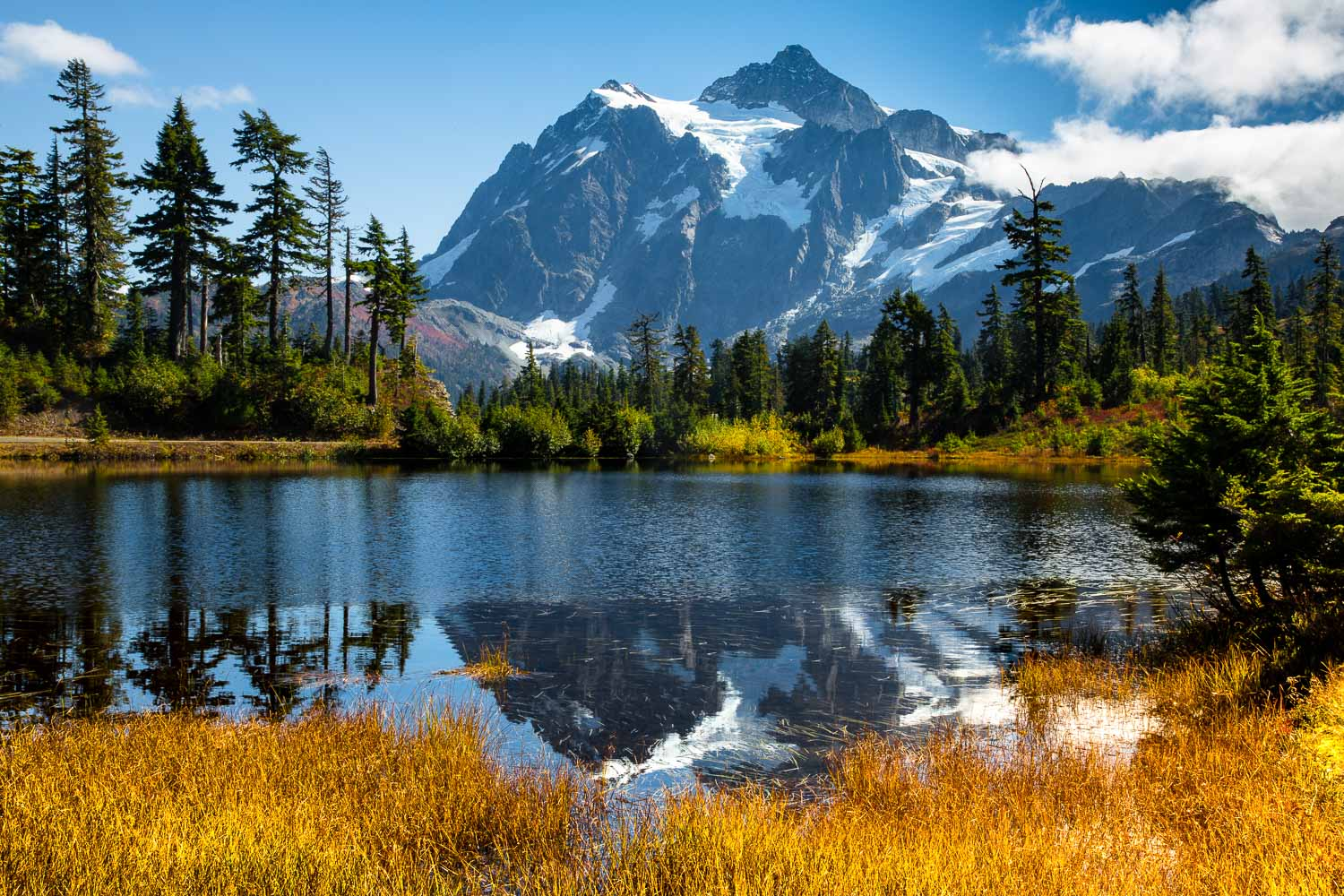 Mt. Shuksan and Picture Lake, Autumn